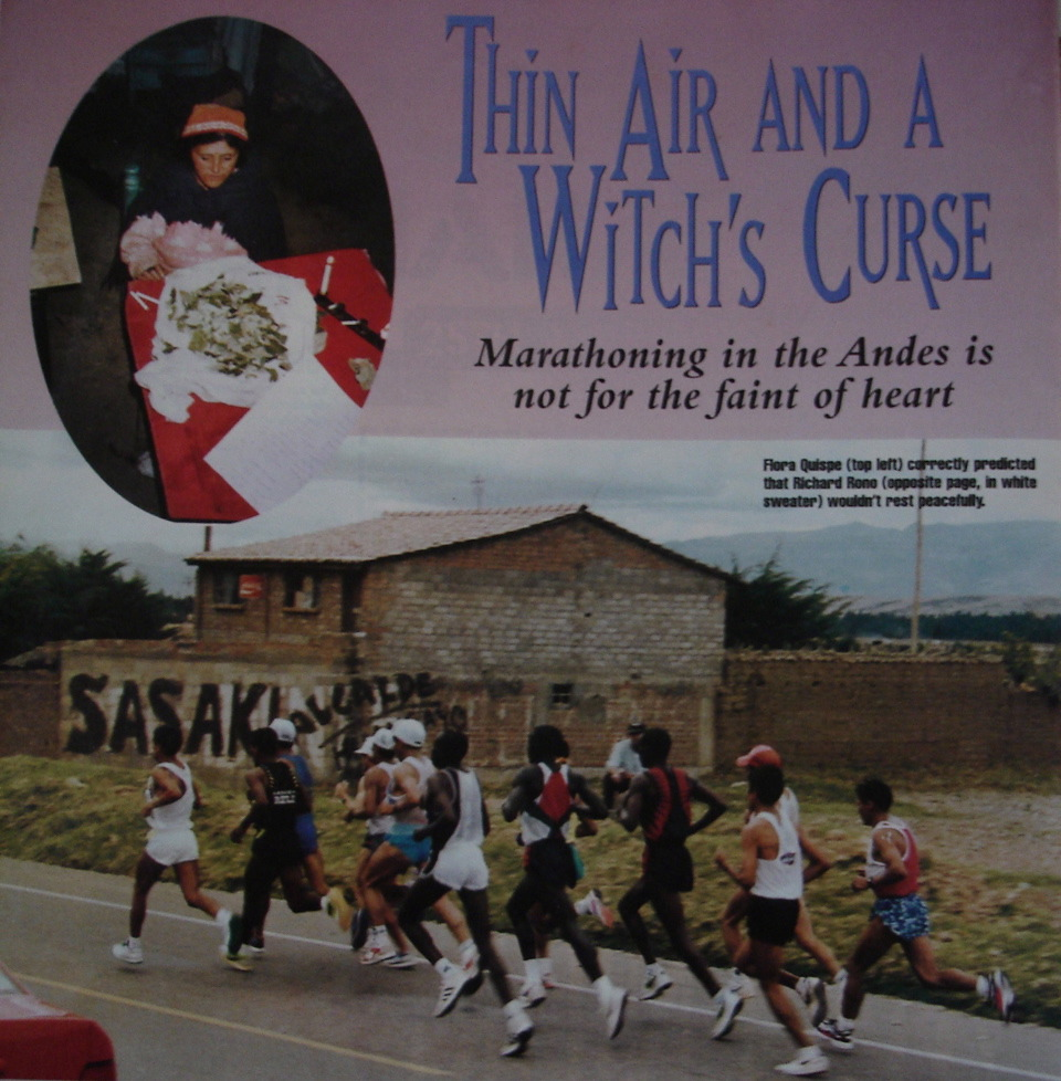 Thin Air and a Witch's Curse: the Marathon of the Andes is not an affair for the faint at heart